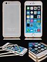 Pour Coque iPhone 6 / Coques iPhone 6 Plus Plaque / Transparente Coque Antichoc Coque Couleur Pleine Dur MetaliPhone 6s Plus/6 Plus /