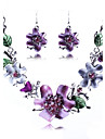 Jewelry Set Alloy Fashion Luxury Jewelry Jewelry set Party Special Occasion Anniversary Birthday Gift Necklaces Earrings Wedding Gifts