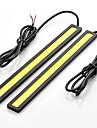 2pcs 17cm 6w 600-700lm eclairage diurne couleur jaune haute puissance torchis drl etanche IP68 jour (12v)