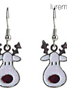 Women\'s  Christmas Fawn Silver Plated Alloy Earrings