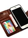 Pour Coque iPhone 6 Coques iPhone 6 Plus Portefeuille Porte Carte Avec Support Clapet Coque Coque Integrale Coque Couleur Pleine DurCuir