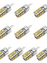 g4 led 옥수수 조명 t 24 smd 1.5w 2835 130-150 lm 따뜻한 흰색 / 흰색 장식 dc 12 v 10 pc