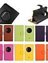 Housse en cuir veritable support flip pour Nokia Lumia 1020 (couleurs assorties)