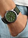 Hommes Montre Bracelet Quartz Calendrier Tissu Bande Noir Marron Vert Noir Marron Vert
