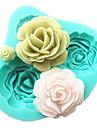4 rosas silicone molde do bolo acessorios ferramentas de cozimento de cozinha fondant de chocolate molde Sugarcraft ferramentas de