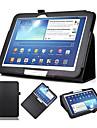 Para Samsung Galaxy Capinhas Com Suporte / Flip Capinha Corpo Inteiro Capinha Cor Unica Couro PU Samsung Tab 3 10.1