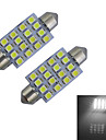 1.5W Guirlande Lampe de Decoration 16 SMD 3528 80-100lm lm Blanc Froid DC 12 V 2 pieces