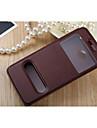 용 HTC케이스 스탠드 / 윈도우 / 플립 케이스 풀 바디 케이스 단색 하드 인조 가죽 용 HTCHTC One M9 / HTC One M7 / HTC One M8 / HTC Desire 826 / HTC Desire 820 / HTC Desire