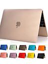 de haute qualite transparente corps entier dur de couverture de cas pvc clair pour Apple nouveau MacBook 12 pouces (couleurs assorties)