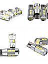 teso t10 4W dc 11-13 v 10pcs 5630/5730 SMD LED canbus 6000-6500k lâmpada de largura, lâmpada de leitura, licença de carro placa lâmpada