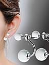 Women\'s Drop Earrings Costume Jewelry Silver Plated Opal Jewelry For
