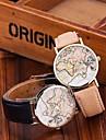 Жен. Модные часы Кварцевый PU Группа Черный Белый Хаки