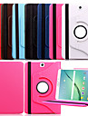 Для Кейс для  Samsung Galaxy со стендом / Флип / Поворот на 360° Кейс для Чехол Кейс для Один цвет Искусственная кожа Samsung Tab S2 9.7