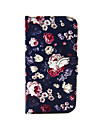 Flowers Pattern PU Leather Full Body Case with Card Slot and Stand For iPhone 7 7 Plus 5c