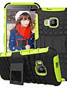 HTC E9 / E9 플러스 / M8 / M9 / 욕망 (820) 미니 용 갑옷의 경우 하이브리드 받침대 디스플레이 커버 콤보 하드 PC + TPU 케이스