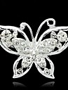 Women\'s  Colorful Butterfly Silver Plated Brooch(Random Color)
