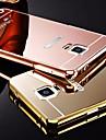 Pour Samsung Galaxy Note Plaque Miroir Coque Coque Arriere Coque Couleur Pleine Metal pour Samsung Note 5 Note 4 Note 3