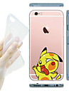 For iPhone 7 MAYCARI® Knocking on the Windows Transparent TPU Back Case for iPhone 6s 6 Plus