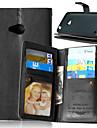 용 노키아 케이스 지갑 / 카드 홀더 / 스탠드 케이스 풀 바디 케이스 단색 하드 인조 가죽 Nokia Nokia Lumia 930 / Nokia Lumia 640