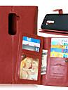 LG G2 Cuir PU / TPU Etuis Complets / Coques avec Support / Autre Couleur unie / Design Special couverture de cas