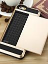 Pour iPhone 8 iPhone 8 Plus iPhone 6 iPhone 6 Plus Etuis coque Porte Carte Coque Arriere Coque Armure Dur Metallique pour Apple iPhone 8