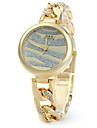 Женские Модные часы Часы-браслет Кварцевый Нержавеющая сталь Группа Элегантные часы Серебристый металл Золотистый