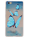 Butterfly  Pattern TPU Phone Case for Huawei P8 Lite
