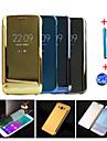 용 자동 슬립/웨이크 기능 / 도금 / 거울 / 플립 케이스 풀 바디 케이스 단색 하드 PC Samsung A9 / A8 / A7 / A5 / Note 5 / Note 4