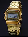 남성 드레스 시계 팔찌 시계 손목 시계 디지털 시계 디지털 스테인레스 스틸 밴드 실버 골드