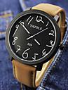 YAZOLE Мужской Наручные часы Кварцевый Кожа Группа Черный Коричневый
