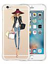 Pour iPhone X iPhone 8 iPhone 6 iPhone 6 Plus Etuis coque Antichoc Transparente Coque Arriere Coque Femme Sexy Flexible Silicone pour
