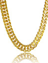 Men\'s Chain Necklaces Circle Line Platinum Plated Gold Plated Gold Filled Alloy Personalized Costume Jewelry Jewelry For Gift Daily