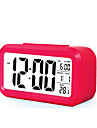 대형 스크린 액정 전자 시계 게으른 빛 유도 스누즈 알람 시계 스마트 알람 시계 (모듬 색상)