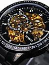 WINNER® Men\'s Skeleton Watch Wrist watch Mechanical Watch Automatic self-winding Water Proof Hollow Engraving Tachymeter Wrist Watch