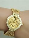 Women\'s Fashion Watch Bracelet Watch Imitation Diamond Quartz Alloy Band Black Silver Brown Gold