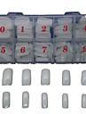 500 PCS  White Natural Full A False Sticker Decoration For Finger Acrylic Tips  Nail Art Tips