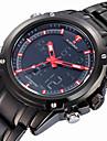 NAVIFORCE Masculino Relogio Esportivo Quartzo Quartzo Japones LCD Calendario Impermeavel Dois Fusos Horarios alarme Luminoso Cronometro