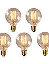 5PCS G95 E27 40w 빈티지 에디슨 전구 복고풍 램프 백열 전구 (220-240V)