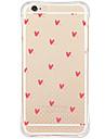 Pour iPhone X iPhone 8 iPhone 6 iPhone 6 Plus Etuis coque Antichoc Etanche a la Poussiere Motif Coque Arriere Coque Coeur Flexible PUT pour