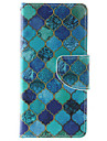 Blue Diamond Pattern PU Leather Full Body Case with Stand and Card Slot for iPhone 6s Plus/6 Plus/6s/6