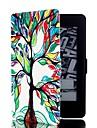 아마존 킨들하는 paperwhite에 대한 스탠드와 카드 슬롯 / 빛나다하는 paperwhite 2 다채로운 나무 패턴 가죽 전신 경우