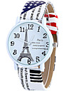 Women\'s Fashion Cool Quartz Casual Watch Leather Belt Paris Eiffer Tower Pattern Watch Unique Watch Strap Watch