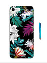 Flowers and Green leaves Pattern  Soft TPU Bumper Case for Apple iPhone 7 Plus 7 6s 6 Plus SE 5s 5 and Stylus