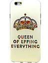 padrao de diamante da coroa TPU capa mole para iPhone 6 Plus