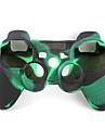 de protection a double couleur etui en silicone de style pour ps3 controleur (vert armee et noir)