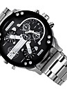 Men\'s Military Watch Dress Watch Fashion Watch Wrist watch Calendar Dual Time Zones Punk Quartz Alloy Band Charm Cool Casual LuxuryBlack
