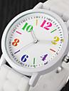 아가씨들 패션 시계 손목 시계 캐쥬얼 시계 컬러풀 석영 실리콘 밴드 빈티지 멋진 캐쥬얼 블랙 화이트 블루 핑크 로즈