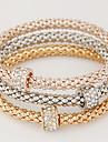 Women\'s Charm Bracelet Basic Costume Jewelry Simple Style Fashion European Multi Layer Rhinestone Imitation Diamond Alloy Circle Jewelry