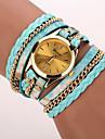 Women\'s Fashion Watch Wrist watch Bracelet Watch Punk Colorful Quartz PU Band Vintage Leopard Bohemian Charm Bangle Cool CasualBlack Blue