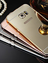 Plating Mirror Back with Metal Frame Phone Case for Galaxy S7 S4 S5 S6 edge plus S8 PLUS S8